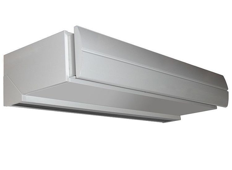 Biddle DoorFlow air curtain above open doors