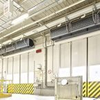 Biddle IndAC2 industrial air curtains for optimal climate separation